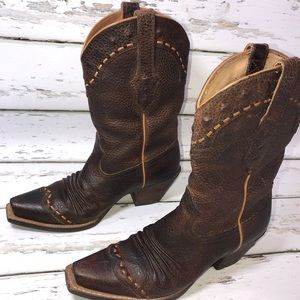 Ariat Western cowboy boots Dixie Brown Oiled Rowdy